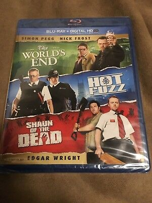 Shaun of the Dead/Hot Fuzz/The Worlds End (Blu-ray Disc, 2013, 3-Disc Set) NEW