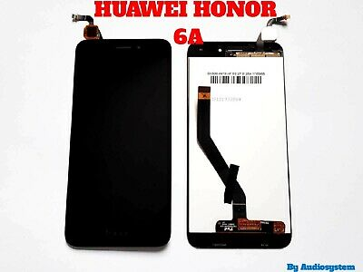 P1 DISPLAY LCD+TOUCH SCREEN per HUAWEI HONOR 6A DLI-AL10 L22 NERO RICAMBIO VETRO