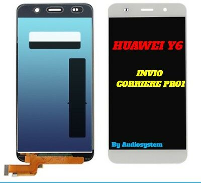 Display Lcd+ Touch Screen Per Huawei Ascend Y6 Scl-L01 L21 Bianco Vetro Nuovo
