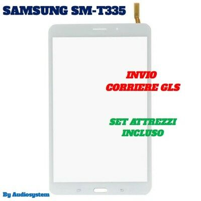 "SDA VETRO+TOUCH SCREEN +TOOLS SAMSUNG per GALAXY TAB 4 SM-T335 8"" WIFI 3G BIANCO"