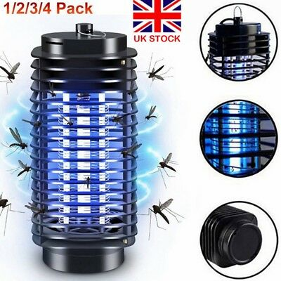 Electronic UV Light Mosquito Insect Killer Trap Lamp Pest Fly Bug Zapper UK Plug