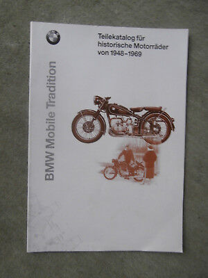 BMW Mobile Tradition Teilekatalog 1948-69 R24 R26 R27 R68 R51  Katalog Brochure