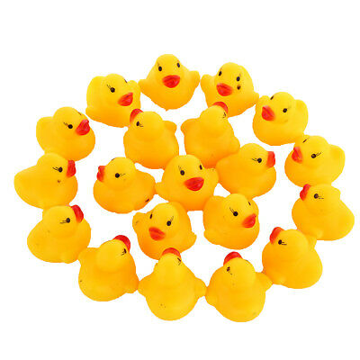 1-100pc Yellow Mini Rubber Ducks Duckies Bath Toy Squeaky Kid Water Play Toddler