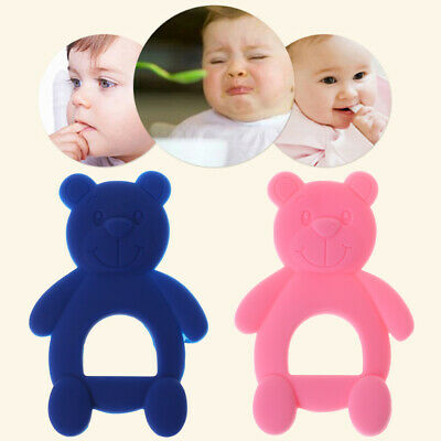 Baby Teether Bear Cute Newborn Infants Food Grade Silicone Teething Toy Pacifier