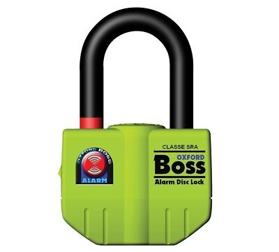 Oxford - Big Boss Alarm Disc Lock 16MM Shackle OF4 Thatchem Approved *SALE*