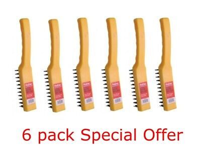 ProDec Heavy Duty 4 Row Wire Brush Professional HDWB4 - Pack of 6 OFFER