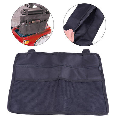 Wheelchair Side Bag Armrest Pouch Organizer Pocket Scooter Walker Phone Holder