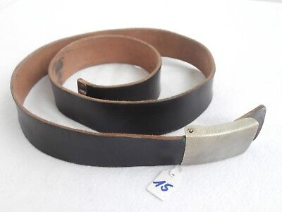 Leder Koppel Bundeswehr Gürtel german leather belt + belt buckle # 15  90cm