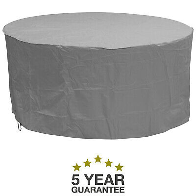 Oxbridge Grey Large Round Waterproof Outdoor Garden Patio Set Furniture Cover