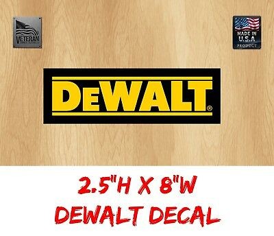 "1 DeWalt tool logo 🛠  USA Car Bumper Window Tool Box Sticker USDM Decal 8"" Wide"
