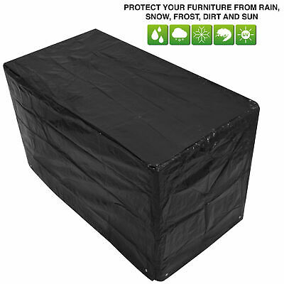 Woodside Black Small Bistro Waterproof Outdoor Garden Patio Set Furniture Cover