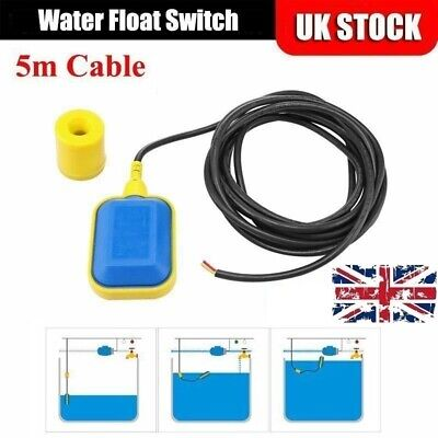 Electrical Submersible Floating Switch For Water Pump Auto On Off 5M Cable UK