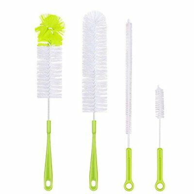 Bottle Cleaning Brush Set  Long Handle Cleaner for Washing Beer Wine Decanter