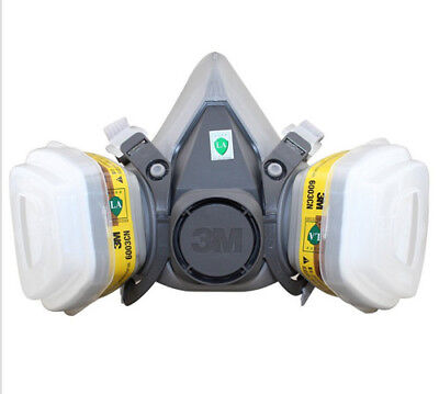 3M 6200 6003 7pcs Suit Respirator Painting Spraying Face Gas Mask 5N11 501