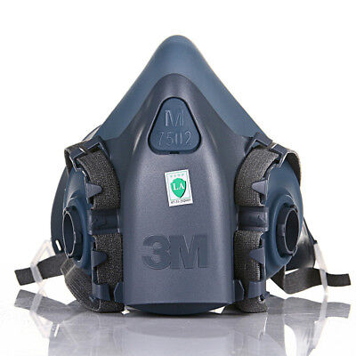 3M 7502 Half Face Facepiece Respirator Silicone Painting Spraying Free shipping