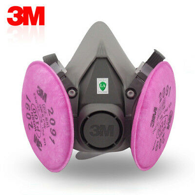 3M 6200 Spray Paint/Dust Mask respirator+3M 2091 P100 Filters