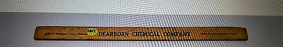"""Vintage 15 """" Wood Ruler - Dearborn Chemical Company"""