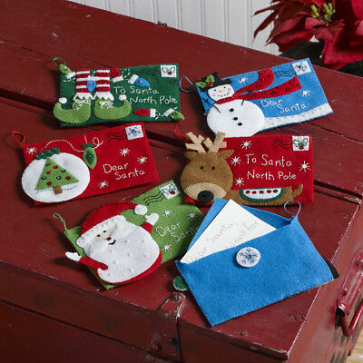 Christmas Candy Express Felt Applique Ornament Kit Set of 6 Bucilla