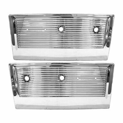 67 - 72 Chevy / 67 - 71 GMC Pickup Truck Door Inner Panel - Chrome / Pair