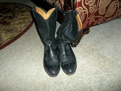 1efa177e34f VINTAGE TONY LAMA Ol' Buck #6156 Men's 12 EE Black Leather Cowboy Western  Boots