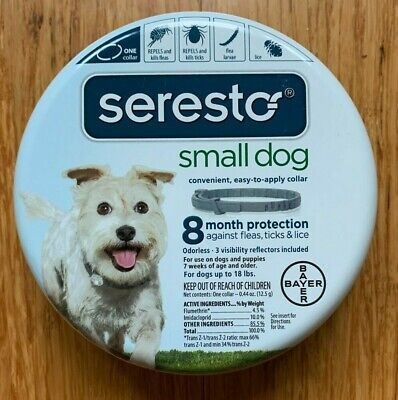 SERESTO Bayer FLEA & TICK Collar for Small Dogs Under 18 Pounds USA EPA Version