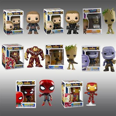 Funko Pop! Marvel: Avengers Infinity War - Groot IRON MAN THOR PVC Figure Toys