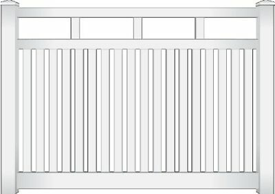 PVC Rosella Picket Fence Panel White 2.34m 100% Australian by Think Fencing