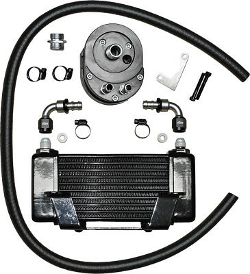 JAGG LOWMOUNT 10-ROW OIL COOLER SYSTEM (BLACK) 750-2400 MC Harley-Davidson