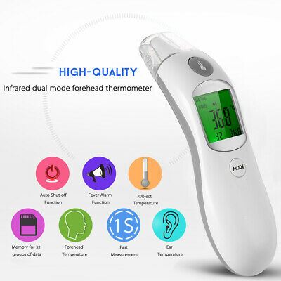 Digital IR Infrared Body Fever Ear Thermometer Adult Children Forehead Q0C7