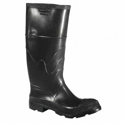 "Dunlop 86606 16"" Steel Toe Cleated Pull On Rubber Black Boots - Men's - 9"