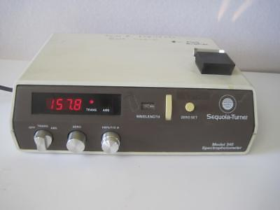 Sequoia Turner 340 Spectrophotometer Used Laboratory Equipment Working