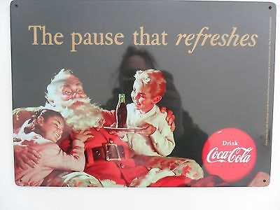 Coca Cola Blechschild   The pause that refreshe