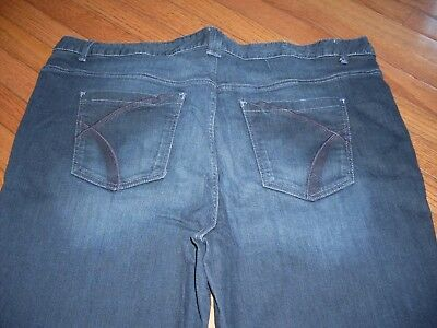 Womens Lane Bryant Straight Stretch Jeans Size 28 Red Triangle