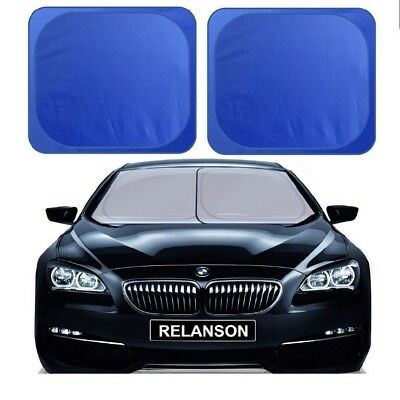 """Car Windshield Sunshade, 2 Pieces of Separate Foldable 35""""x31"""" Car Sun Shade NEW"""