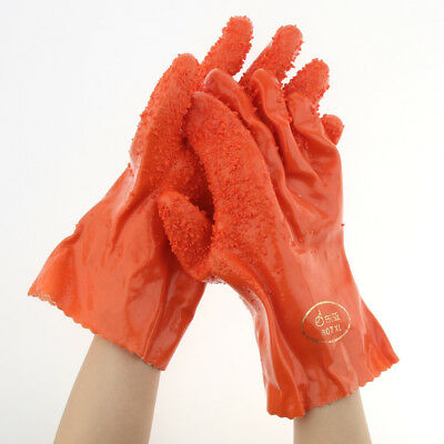 Industrial Latex Rubber Gloves Heavy Duty 10'' Home Cleaning Washing Gloves