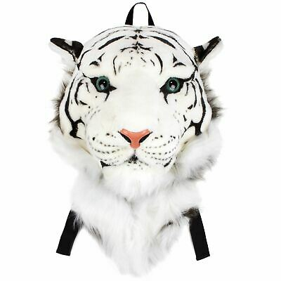 VIAHART Authentic Tigerdome White Siberian Tiger Head Backpack and Wall Mount