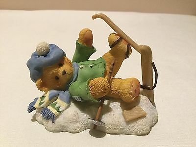 """Cherished Teddies Spencer """" I'm Head Over Skis For You"""" 1997"""