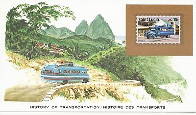 St Lucia - History of Transport - P'Card Type - Local Bus - 1981 (2714) (X)