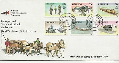 FDC - Zimbabwe -Transport & Communication in Zimbabwe - 1990 - (2662) (X)