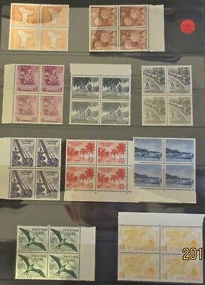 Christmas Island Stamps 1963 Pictorials Block 4 Complete Sets MUH