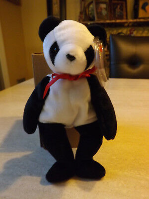 TY BEANIE BABY FORTUNE the Panda TEDDY BEAR New MWMT Retired ... e38d902da011