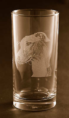 New! Etched Greyhound on Tumbler /Highball Glasses - Set of 2