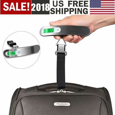 Portable LCD Digital Travel Luggage Scale Hook Hanging Weight 110lb/50kg US