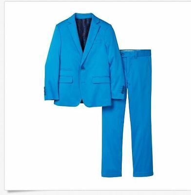 Isaac Mizrahi Boy's  2-Piece Cotton Stretch Suit Light Blue Size 6T