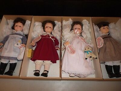 "Effanbee Age of Innocence Collection 18"" Dolls (Full 1986 Set of 4)  NEW IN BOX"