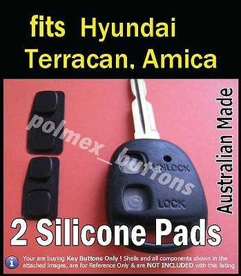 suits Hyundai Amica Terracan remote key fob- Silicone repair key buttons (2sets)
