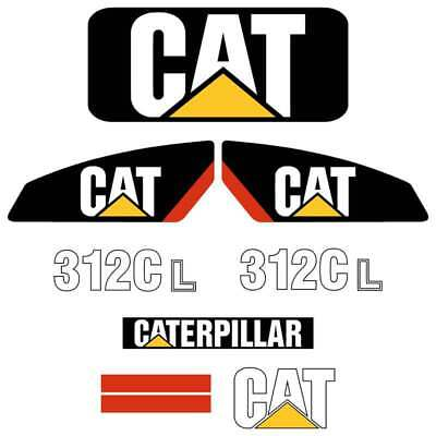 Cat 312CL decals stickers kit laminated repro kit