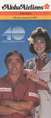 Aloha Airlines timetable 1987/01/08
