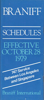 Braniff International timetable 1979/10/28