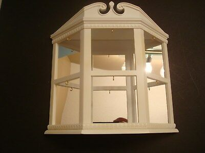 Hallmark 2003 Miniature Ornament Mirror and White Display Case to hang or sit